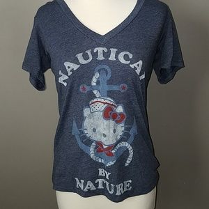 Hello Kitty! V-Neck Graphic Tee-MD